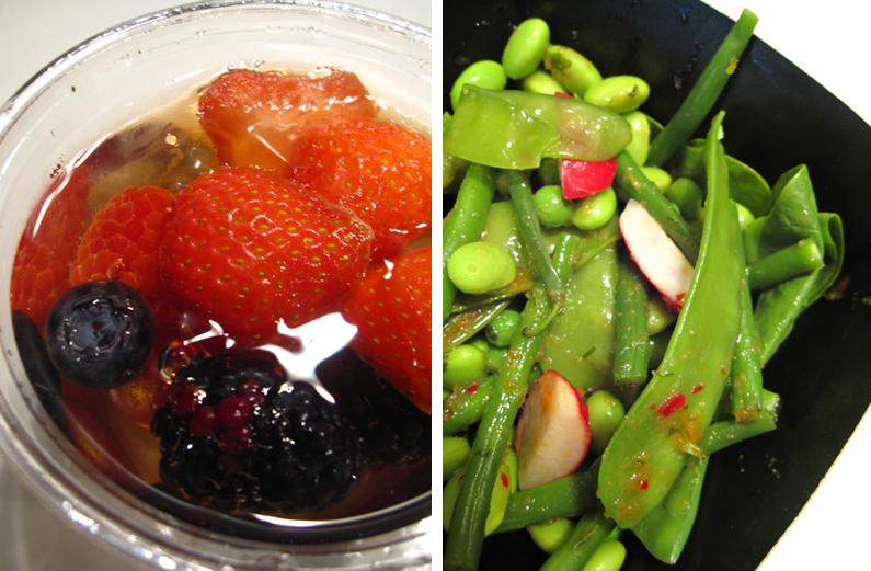 summer berry & elderflower jelly; supergreens salad