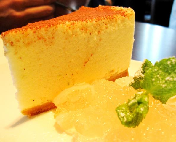 lychee & lime cheesecake with lychee jelly