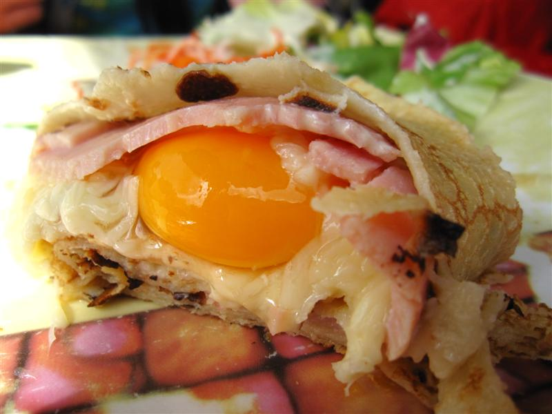 ham cheese and egg crepe