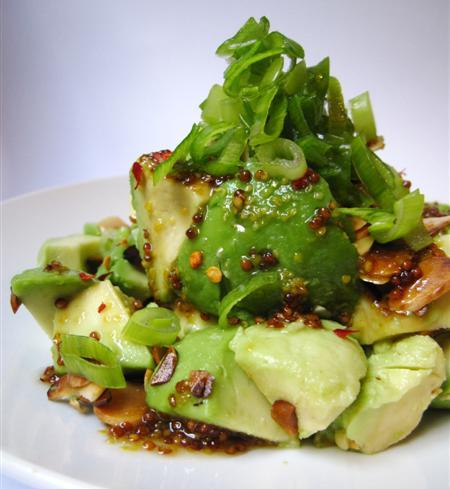 avocado and almond salad