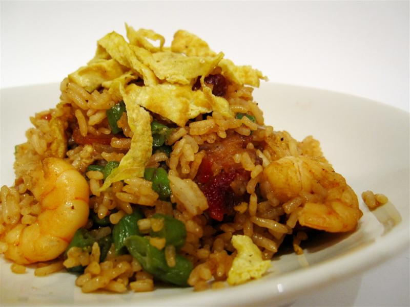 prawn and pork fried rice