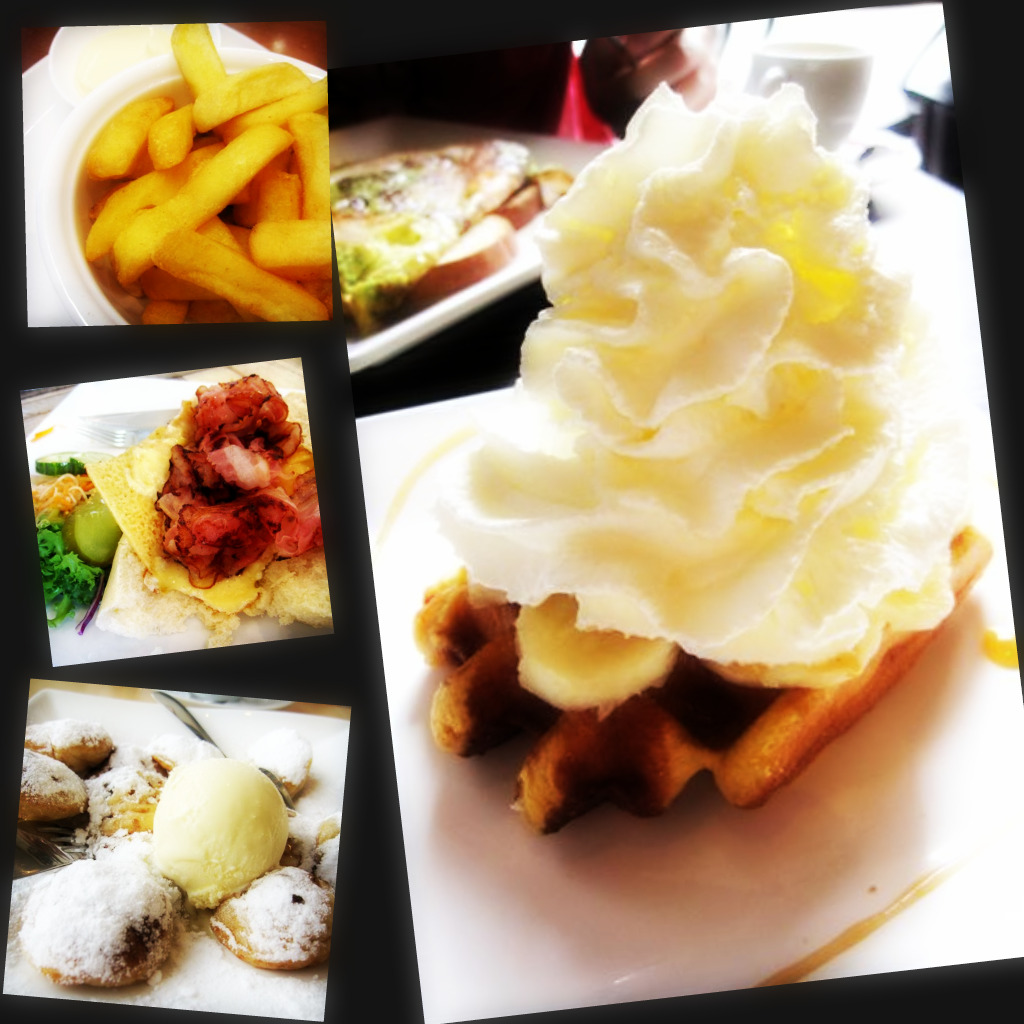 fries & mayo; dutch breakfast; poffertjes; waffle with banana & cream