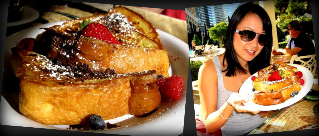 white chocolate brioche french toast from Bellagio Pool Cafe