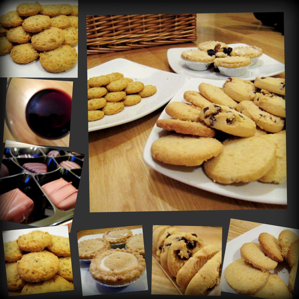 mmmm... cookies, shortbread, chocolate and wine!