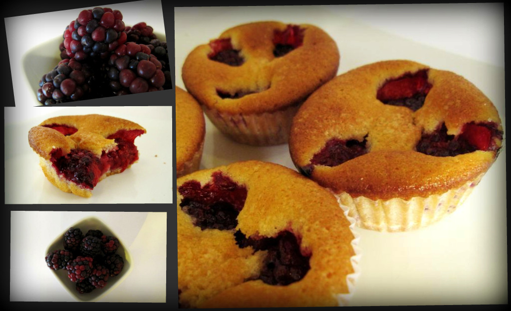 mini blackberry muff-cakes