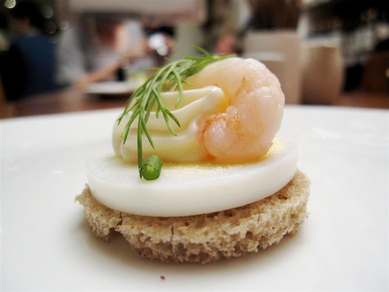 egg & prawn open sandwich @ Scandi Kitchen