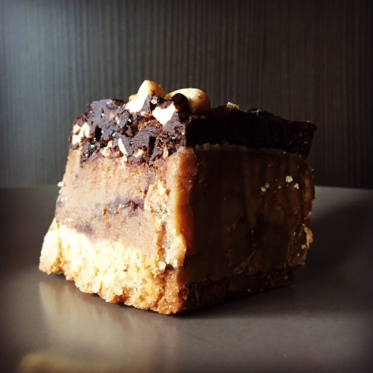 candied peanut caramel slice